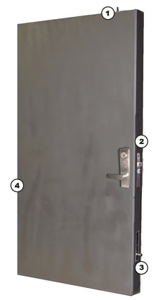Security door with multi-point locking  sc 1 st  residential security doors & Safe Room Panic Room \u0026 Storm Shelter Doors